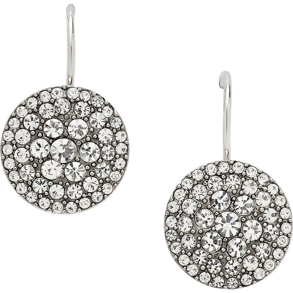 Fossil Glitz Disc Earring Silver - Fossil Other Fashion Accessories - Fashion Accessories, Other Fashion Accessories
