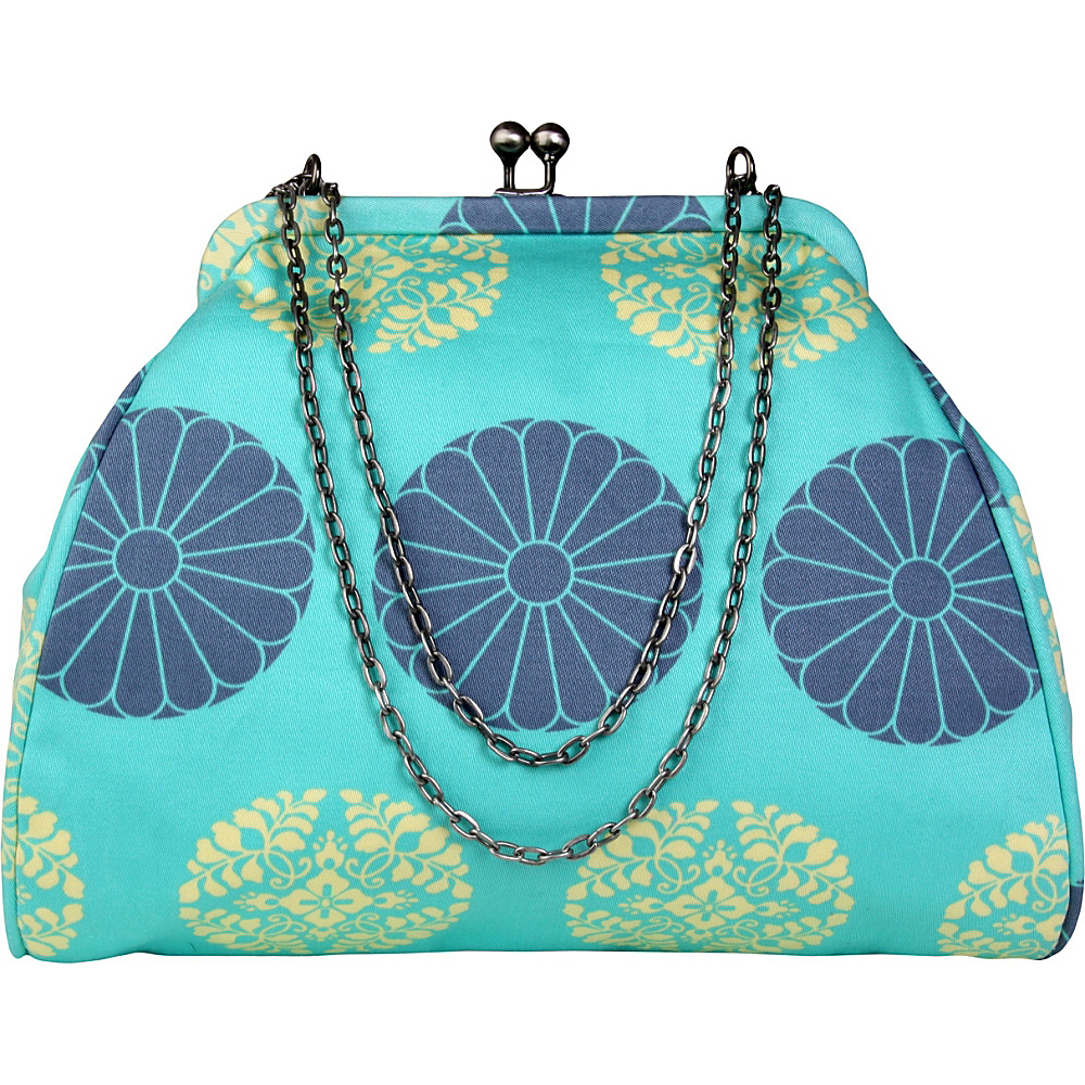 Amy Butler for Kalencom Nora Clutch with Chain Pressed Flowers Mint - Amy Butler for Kalencom Women's Wallets