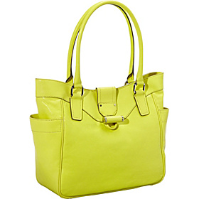 Kiera Leather Tote Citrus