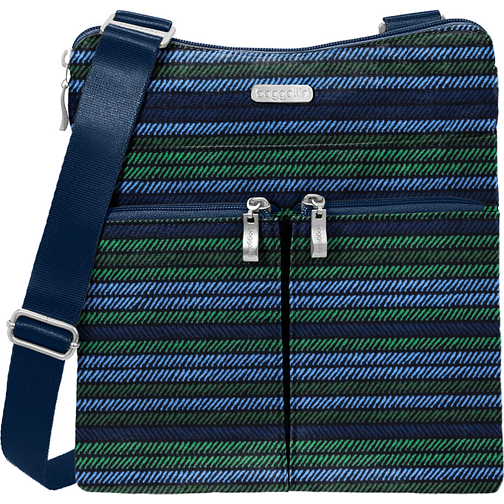 baggallini Horizon Crossbody Moss Stripe - baggallini Fabric Handbags - Handbags, Fabric Handbags