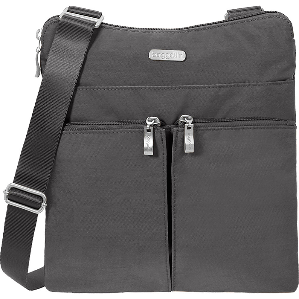 baggallini Horizon Crossbody Charcoal - baggallini Fabric Handbags - Handbags, Fabric Handbags