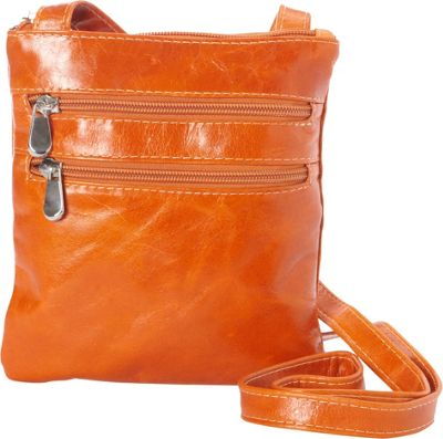 David King & Co. David King & Co. Florentine 3 Zip Cross Body Bag Honey - David King & Co. Leather Handbags