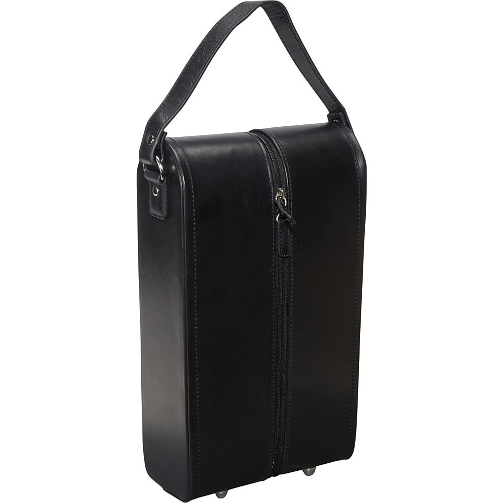 AmeriLeather Leather Double Wine Case Holder Black - AmeriLeather Outdoor Accessories - Outdoor, Outdoor Accessories