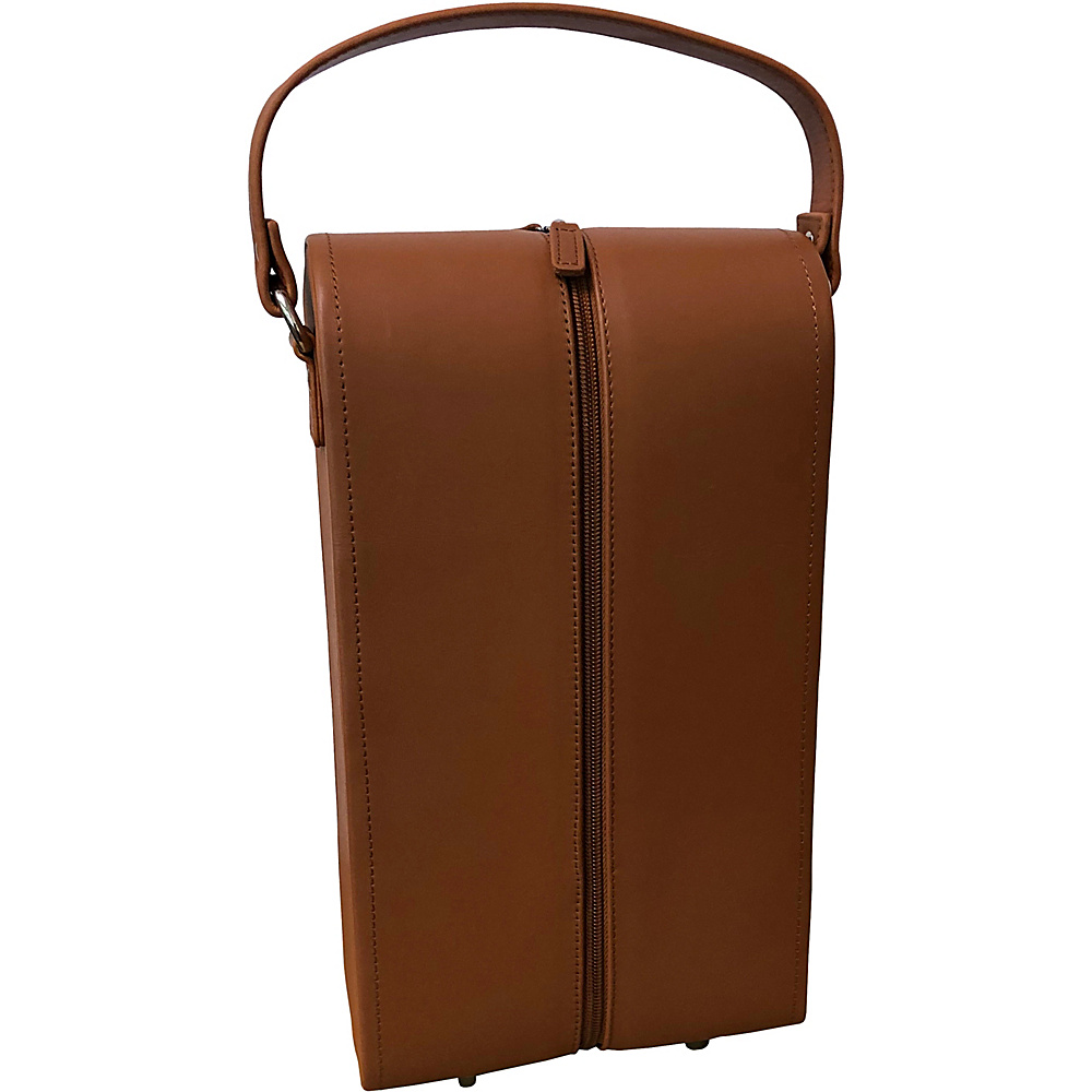 AmeriLeather Leather Double Wine Case Holder Brown - AmeriLeather Outdoor Accessories - Outdoor, Outdoor Accessories