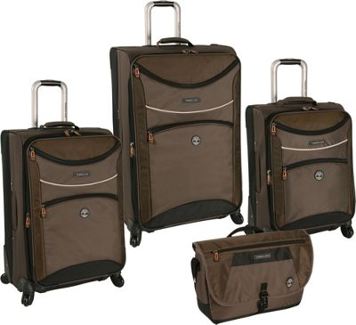 Timberland Rt 4 Four Piece Spinner Luggage Set Cocoa - Timberland Luggage Sets