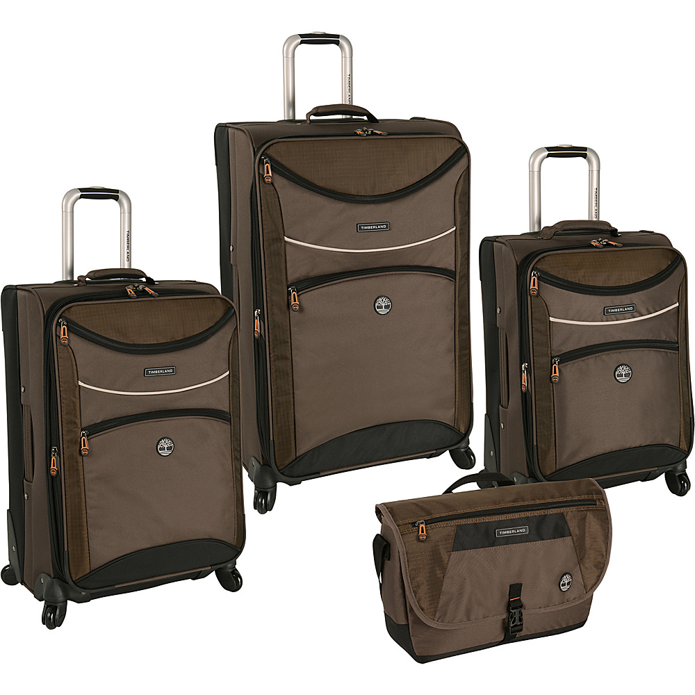 Timberland Rt 4 Four Piece Spinner Luggage Set Cocoa Timberland Luggage Sets