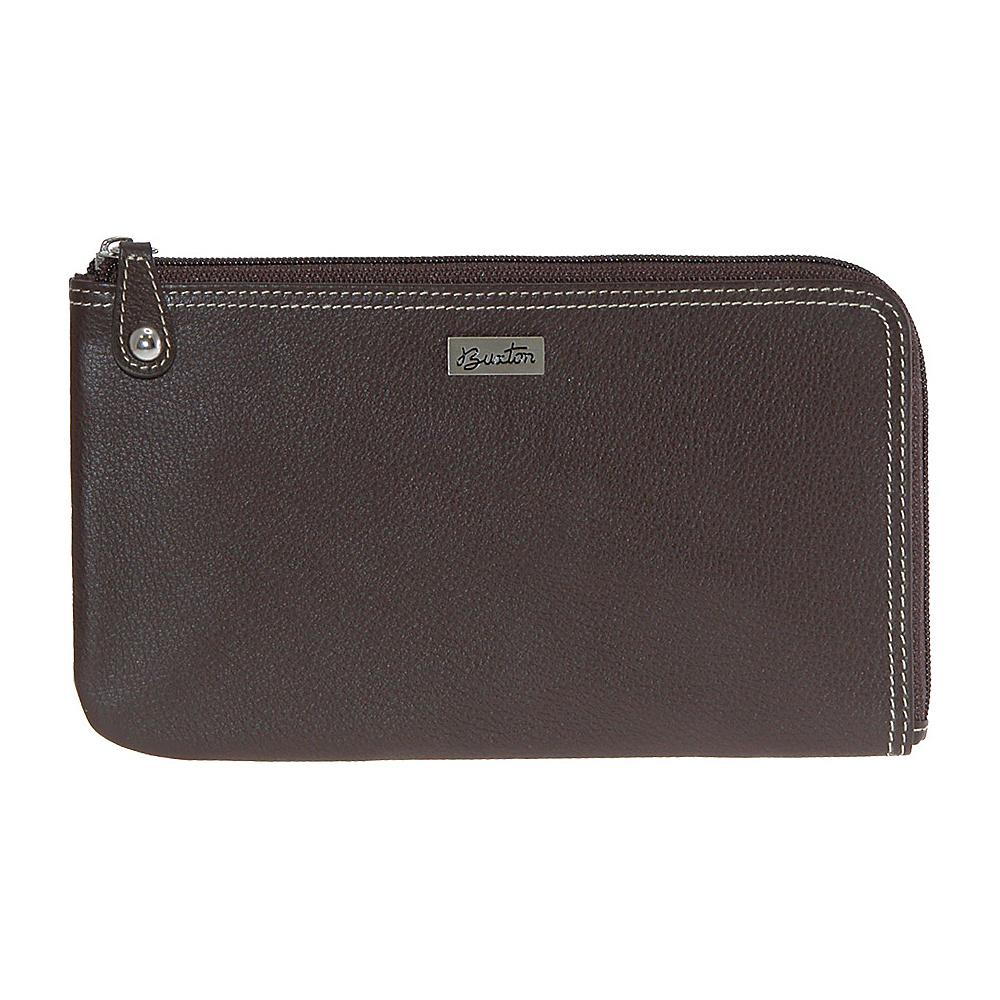 Buxton Westcott L-Zip Expandable Wallet Brown - Buxton Womens Wallets - Women's SLG, Women's Wallets