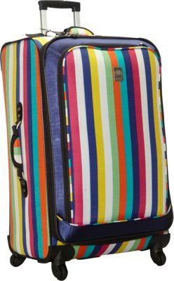 Jenni Chan Multi Stripes 360 Quattro 28 inch Luggage Multi Stripe - Jenni Chan Softside Checked
