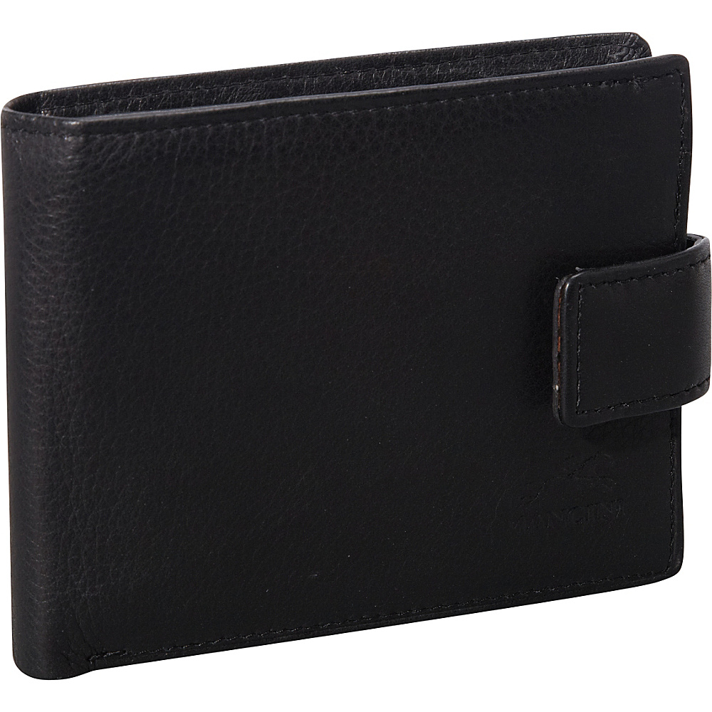 Mancini Leather Goods San Diego Collection: Mens Wallet with Coin Purse Black - Mancini Leather Goods Men's Wallets
