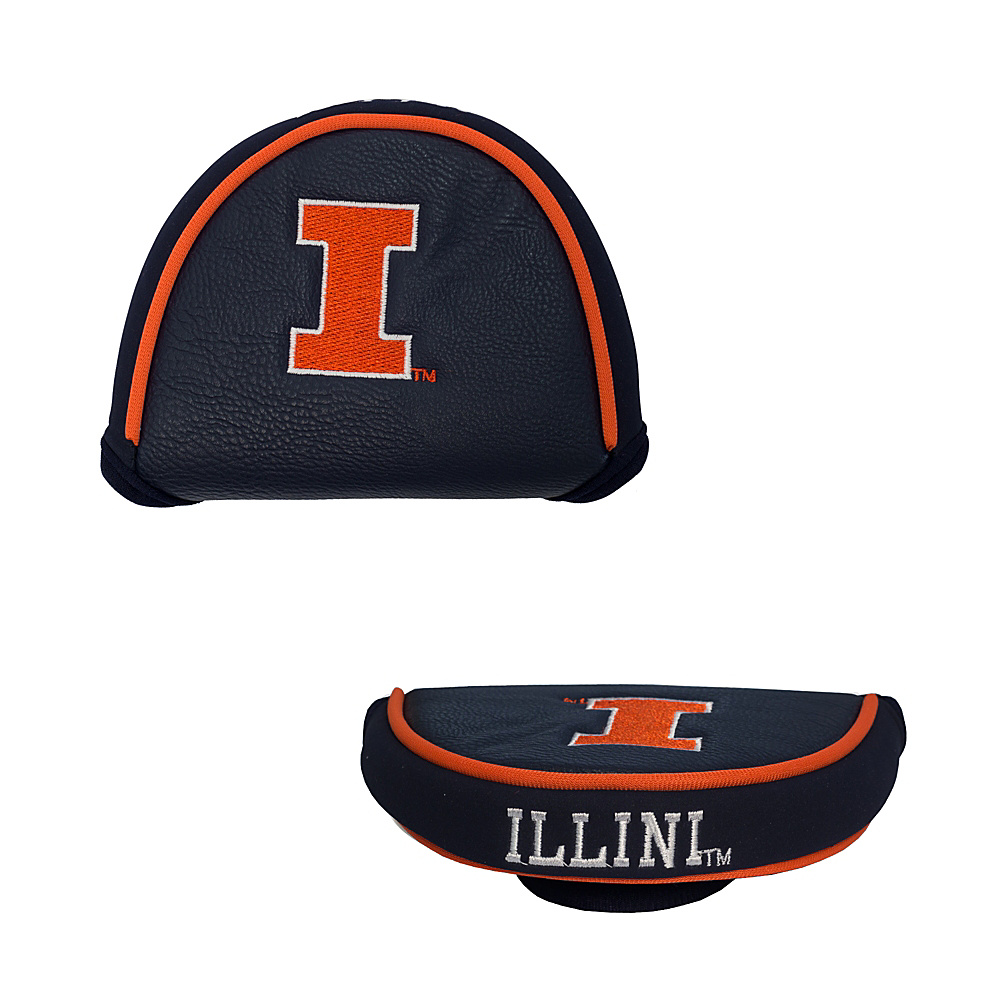 Team Golf USA University of Illinois Fighting Illini Mallet Putter Cover Team Color - Team Golf USA Golf Bags