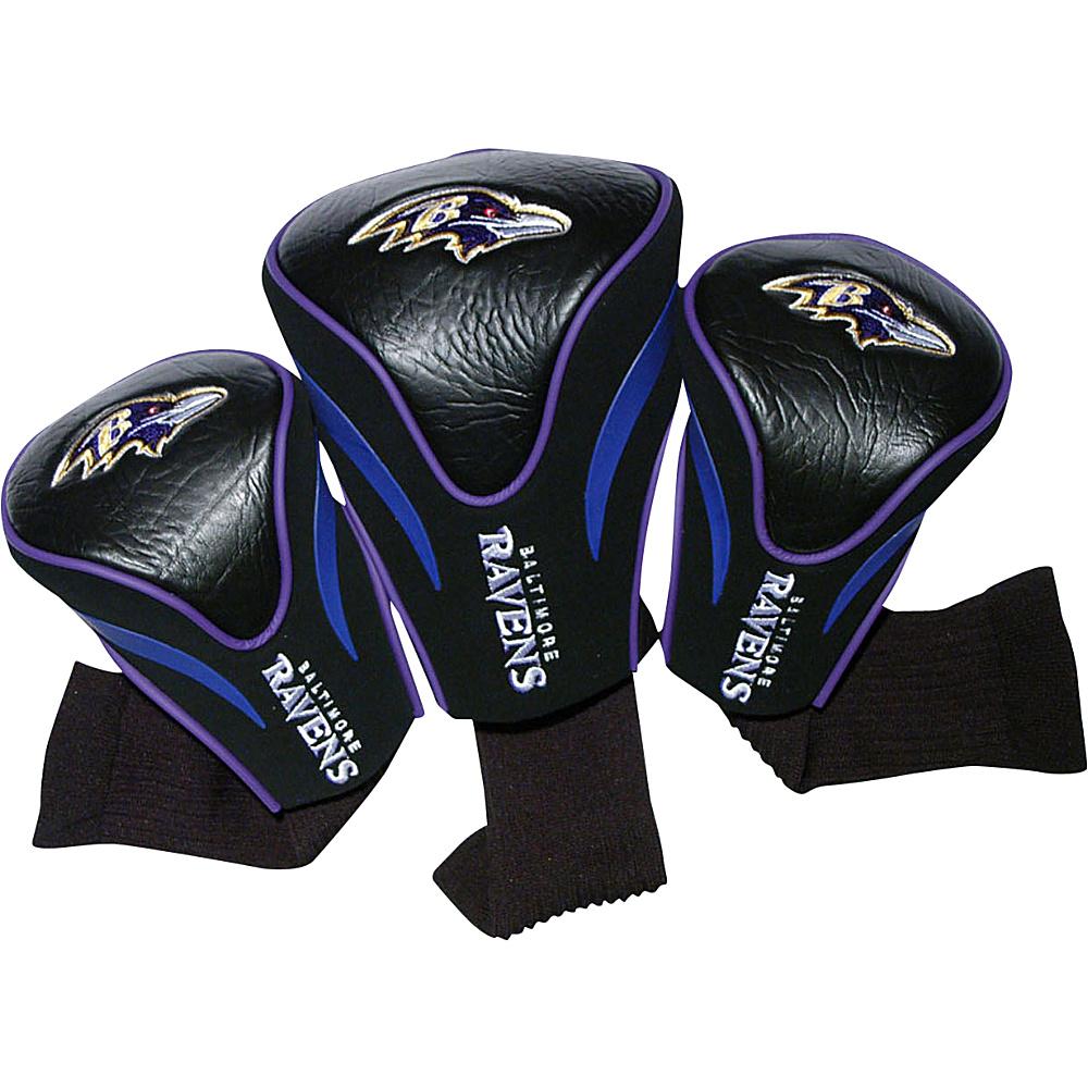 Team Golf USA Baltimore Ravens 3 Pack Contour Headcover Team Color - Team Golf USA Golf Bags