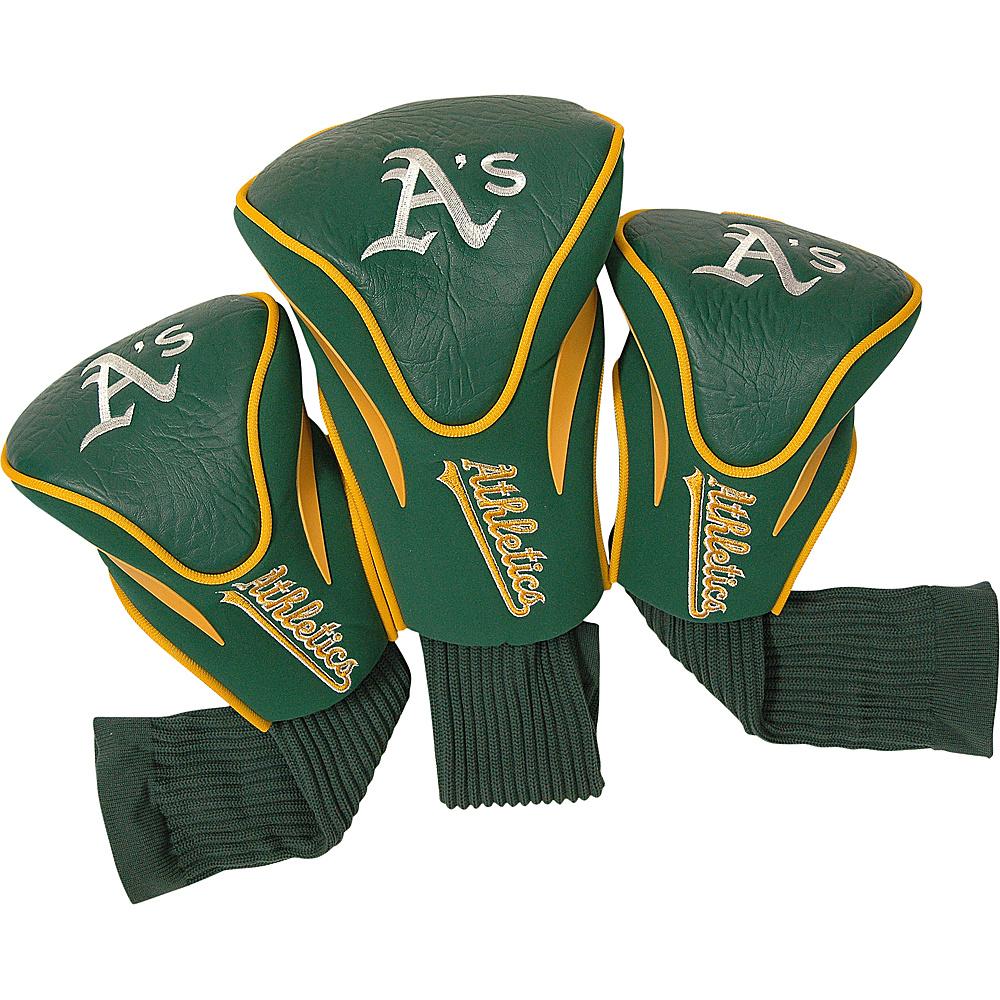 Team Golf USA Oakland Athletics 3 Pk Contour Head Cover Team Color - Team Golf USA Golf Bags