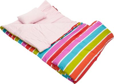 Wildkin Bright Stripes Original Sleeping Bag Bright Stripes - Wildkin Travel Pillows & Blankets