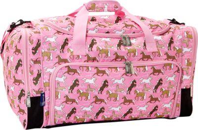 Wildkin Horses in Pink Weekender Duffel Horses in Pink - Wildkin Travel Duffels
