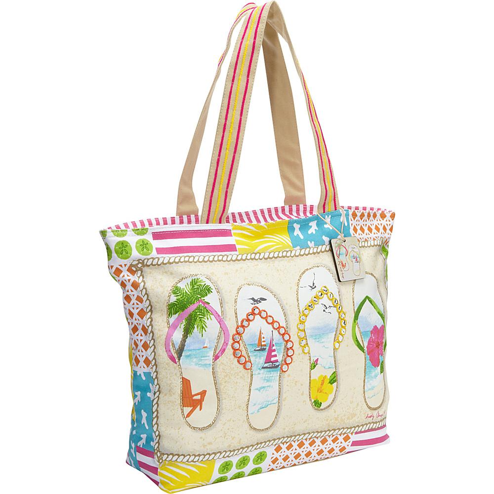 Sun N Sand Flip Flop Shore Tan - Sun N Sand Straw Handbags - Handbags, Straw Handbags