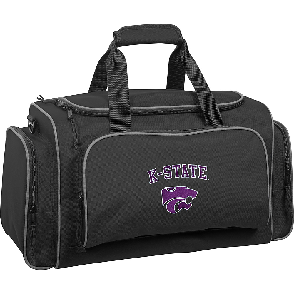 Wally Bags Kansas State Wildcats 21 Collegiate Duffel Black Wally Bags Rolling Duffels