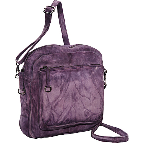 Latico Leathers Peyton Crossbody Purple - Latico Leathers Leather Handbags