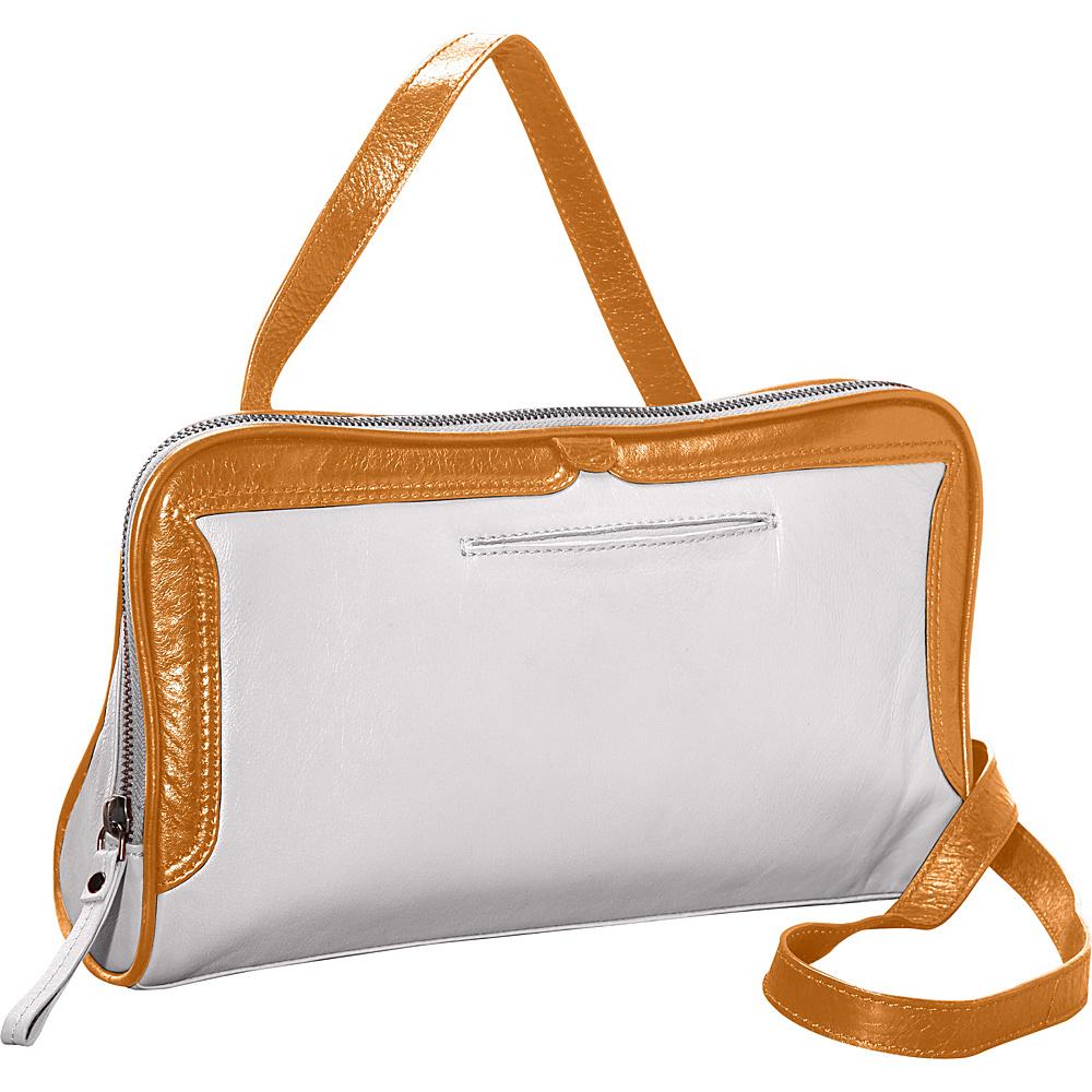 Latico Leathers Tate Crossbody Metallic White/Gold - Latico Leathers Leather Handbags - Handbags, Leather Handbags