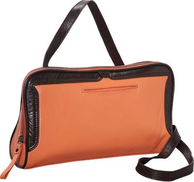 Latico Leathers Tate Crossbody Salmon/Espresso - Latico Leathers Leather Handbags