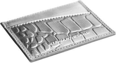 Stewart Stand Alligator Texture Card Stainless Steel Wallet  - RFID Silver / Grey - Stewart Stand Women's Wallets