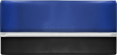 Stewart Stand Clutch Stainless Steel Wallet  - RFID Cobalt Blue / Black - Stewart Stand Women's Wallets