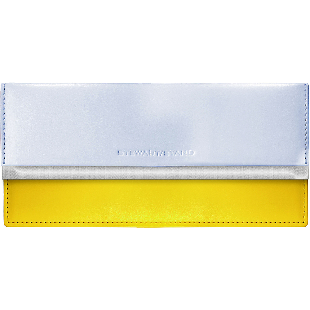 Stewart Stand Clutch Stainless Steel Wallet RFID Yellow amp; Periwinkle Stewart Stand Women s Wallets