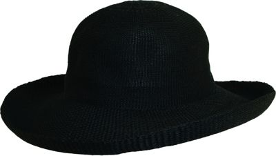 Scala Hats Knitted Poly-Straw Big Brim One Size - Black - Scala Hats Hats/Gloves/Scarves