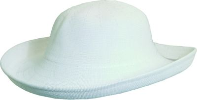 Scala Hats Knitted Poly-Straw Big Brim One Size - White - Scala Hats Hats/Gloves/Scarves