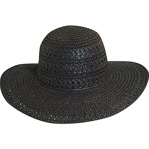 Scala Hats Big Brim Crocheted Toyo CHOCOLATE - Scala Hats Hats