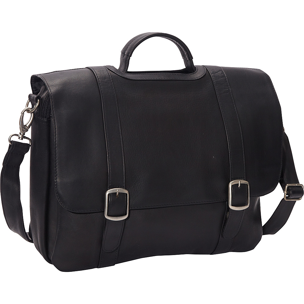 Le Donne Leather Classic Computer Brief Black - Le Donne Leather Non-Wheeled Business Cases - Work Bags & Briefcases, Non-Wheeled Business Cases