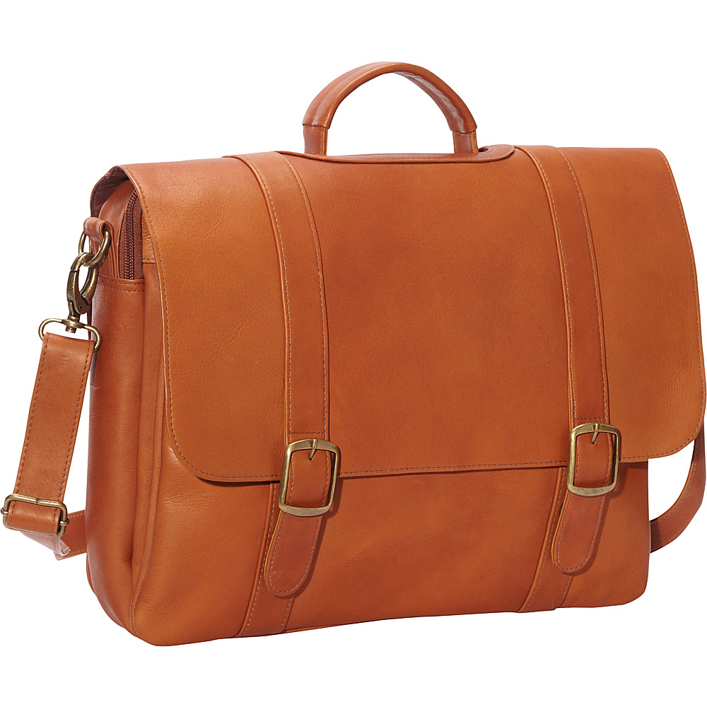 Le Donne Leather Classic Computer Brief Tan - Le Donne Leather Non-Wheeled Business Cases - Work Bags & Briefcases, Non-Wheeled Business Cases