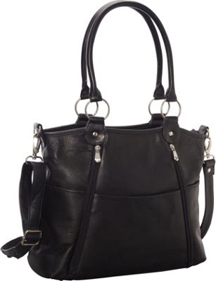 Le Donne Leather Nevington Convertible Satchel Black - Le Donne Leather Leather Handbags