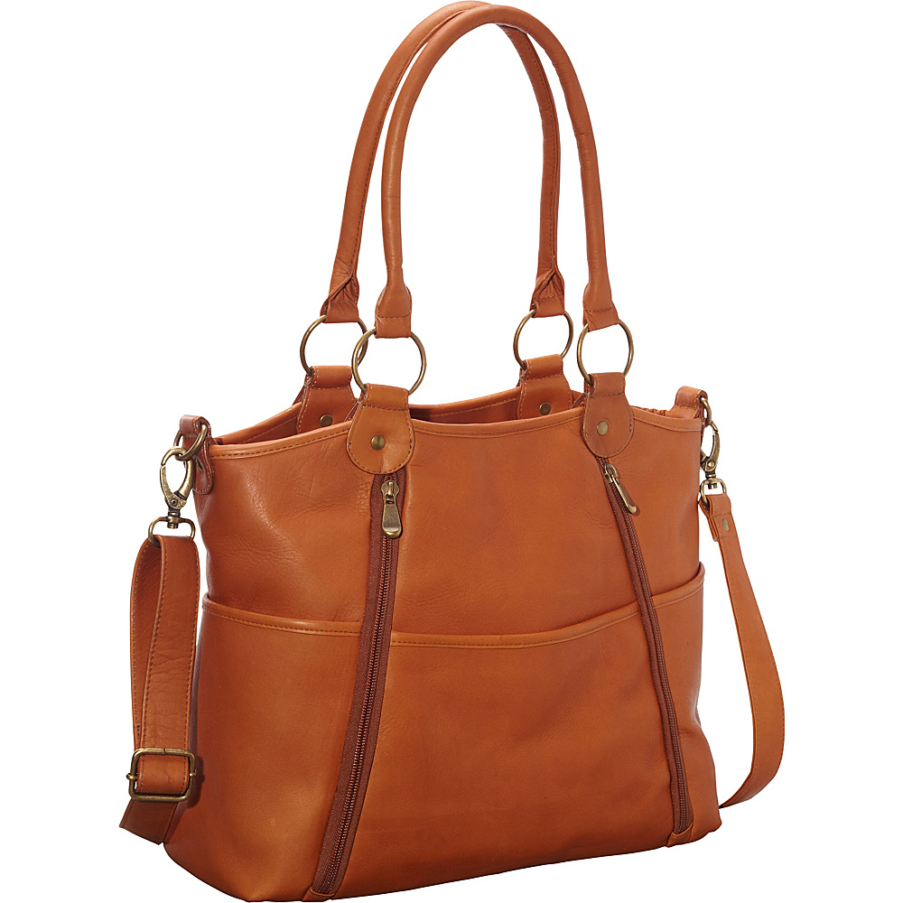 Le Donne Leather Nevington Convertible Satchel Tan - Le Donne Leather Leather Handbags - Handbags, Leather Handbags