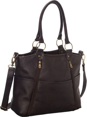 Le Donne Leather Nevington Convertible Satchel Cafe - Le Donne Leather Leather Handbags
