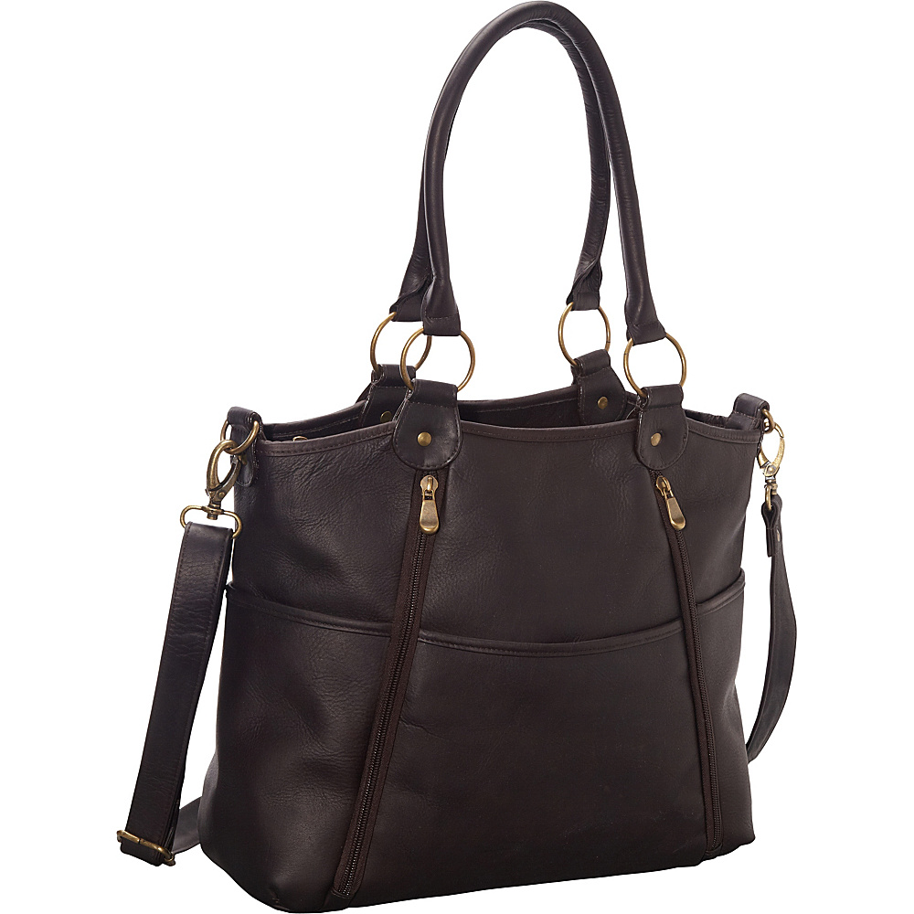 Le Donne Leather Nevington Convertible Satchel Cafe - Le Donne Leather Leather Handbags - Handbags, Leather Handbags
