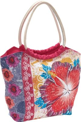 Sun 'N' Sand Hibiscus Red - Sun 'N' Sand Fabric Handbags
