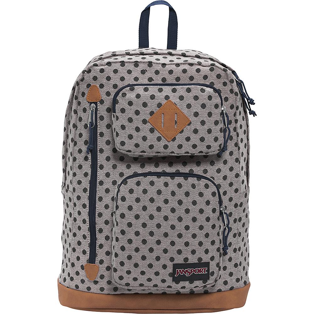 JanSport Houston Laptop Backpack Silver Twiggy Dot Jaquard - JanSport Business & Laptop Backpacks - Backpacks, Business & Laptop Backpacks