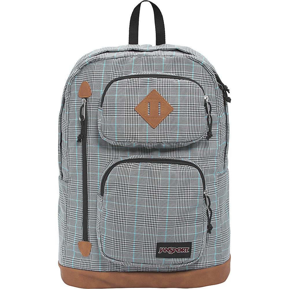 JanSport Houston Laptop Backpack Black/White Suited Plaid - JanSport Business & Laptop Backpacks - Backpacks, Business & Laptop Backpacks