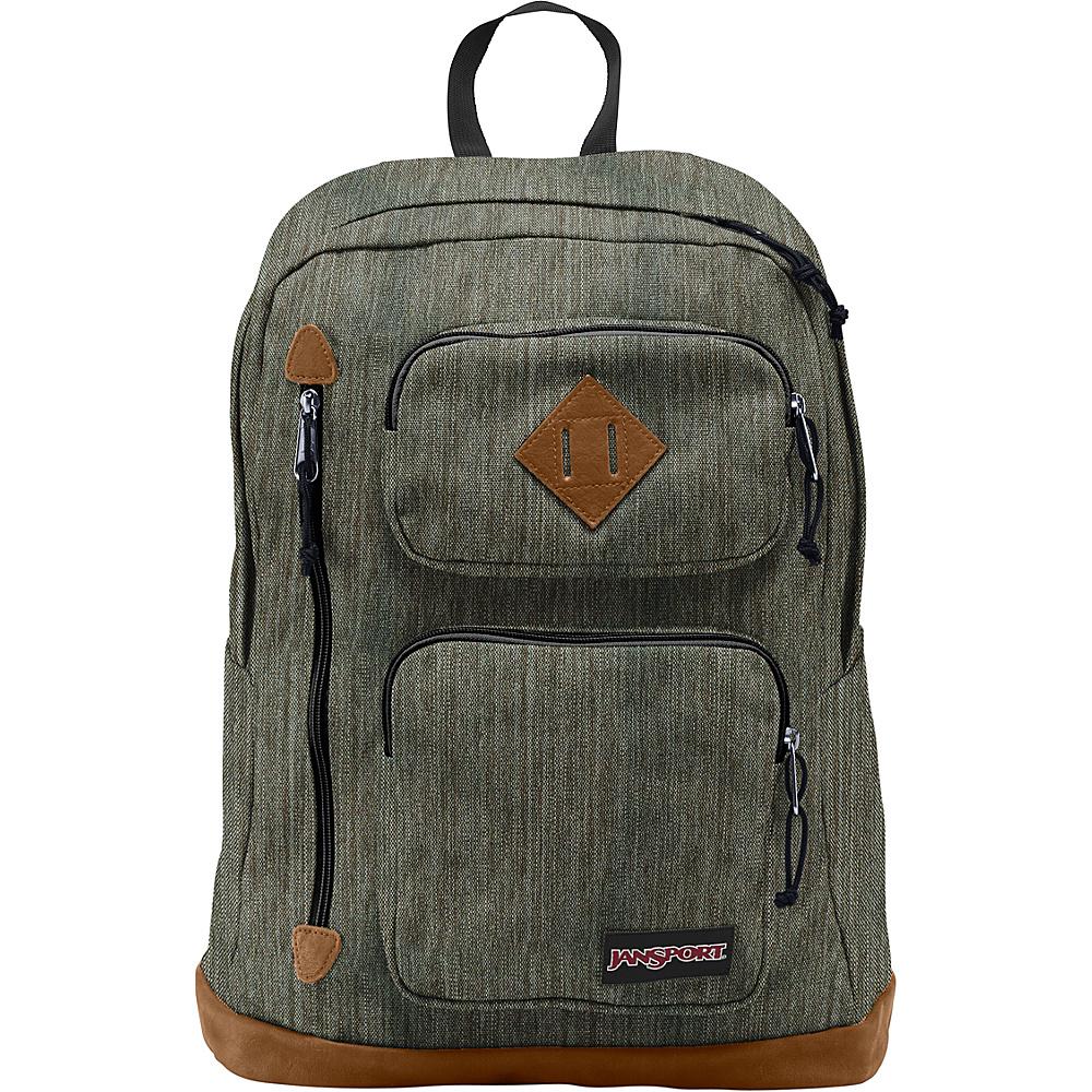 JanSport Houston Laptop Backpack Army Green Melange - JanSport Business & Laptop Backpacks - Backpacks, Business & Laptop Backpacks