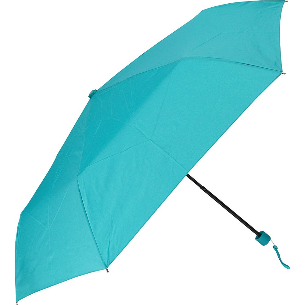 Samsonite Travel Accessories Manual Compact Round Umbrella Teal Samsonite Travel Accessories Umbrellas and Rain Gear