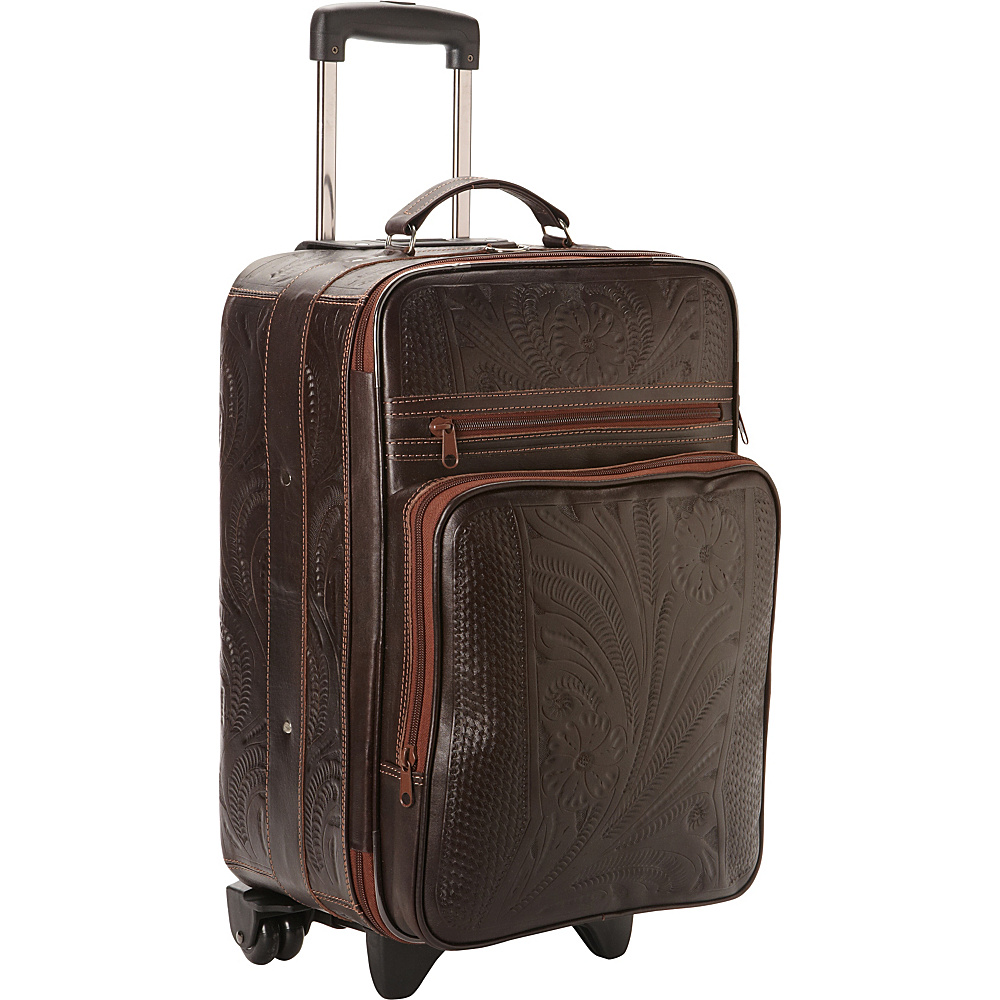 "Ropin West 20"" Upright Roller Bag Brown - Ropin West Softside Carry-On"