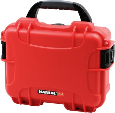 NANUK 904 Water Tight Protective Case w/ Foam Insert Red - NANUK Camera Accessories