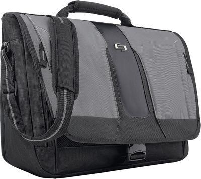 SOLO Active 15.6 inch Laptop Messenger Black - SOLO Messenger Bags