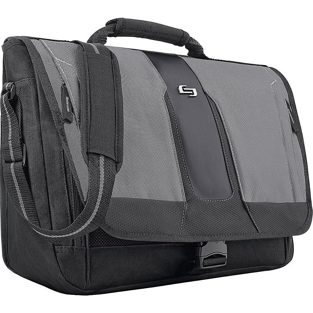 """SOLO Active 15.6"""" Laptop Messenger Black - SOLO Messenger Bags"""