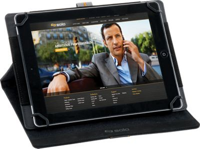 SOLO Metro Universal Tablet Case, fits tablets 8.5 inch up to 11 inch Black - SOLO Electronic Cases