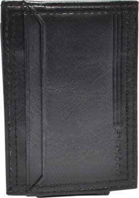 Dockers Leather Magnetic Front Pocket Wallet Black - Dockers Men's Wallets