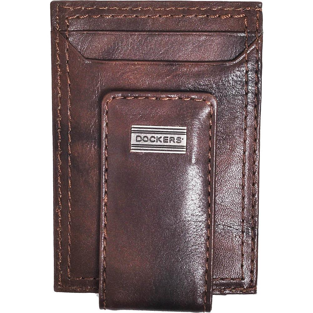 Dockers Leather Magnetic Front Pocket Wallet Brown – Dockers Men's Wallets
