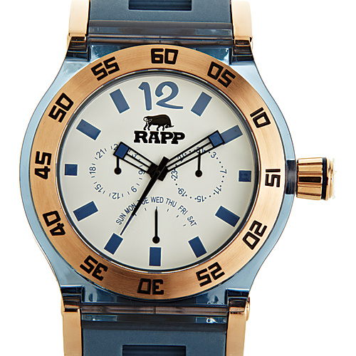 RAPP Watches Pink Naples Multi-Function Watch Rose Gold Pastel Blue - RAPP Watches Watches