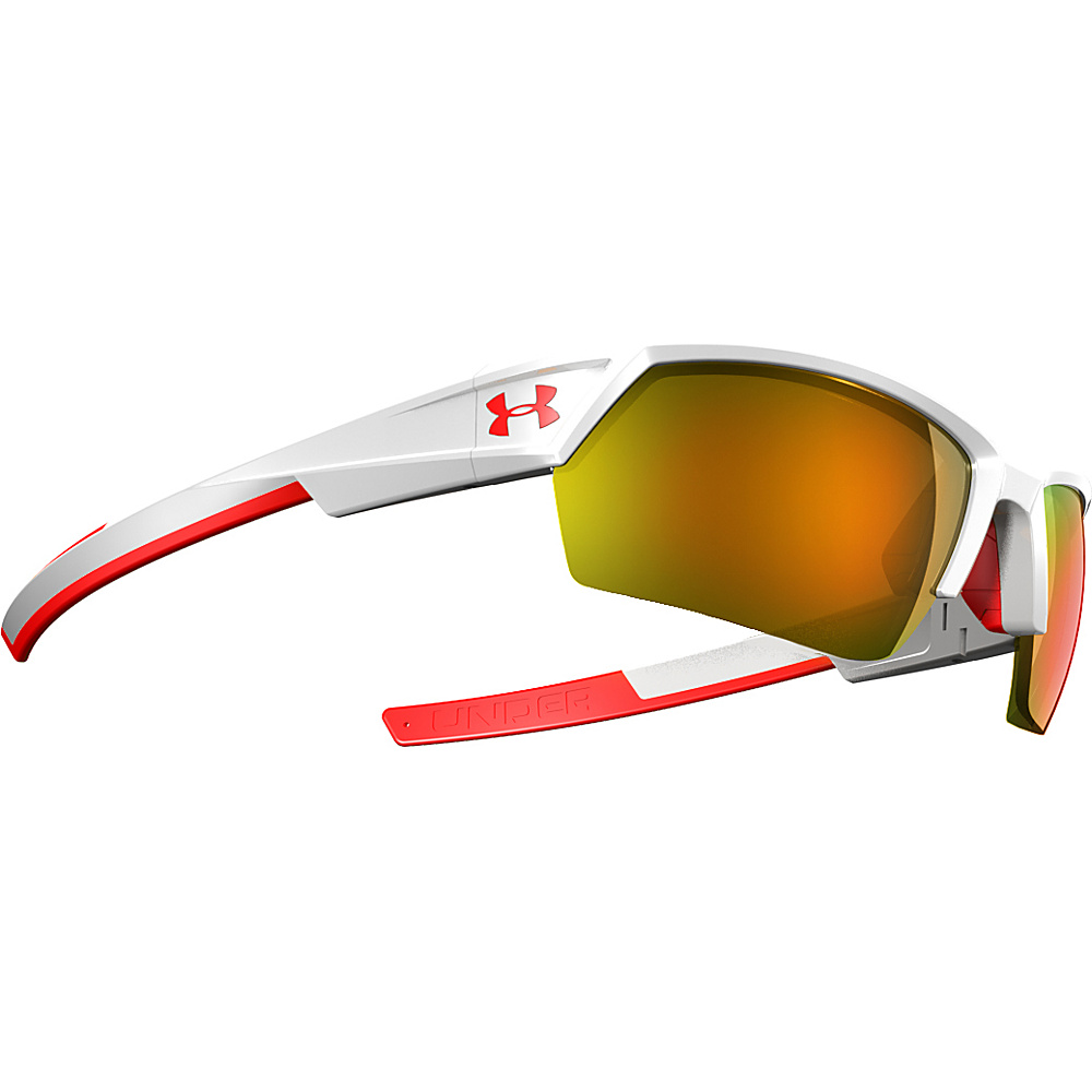 Under Armour Eyewear UA Igniter II Sunglasses Shiny White/ML Orange Mirror - Under Armour Eyewear Sunglasses
