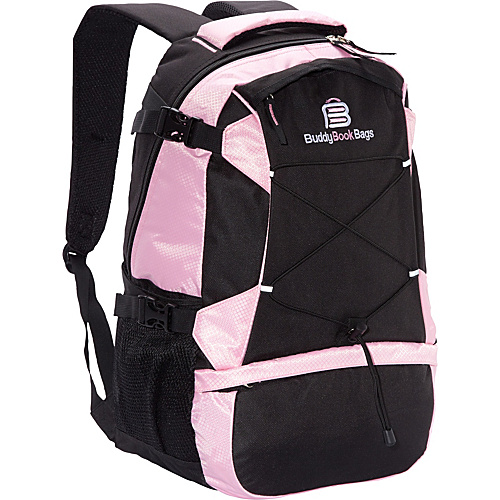 Buddy Book Bags Laptop Backpack Pink and Black - Buddy Book Bags Laptop Backpacks